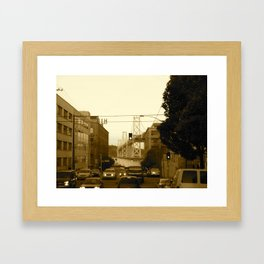 california san fran Framed Art Print