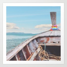 #boatlife Art Print
