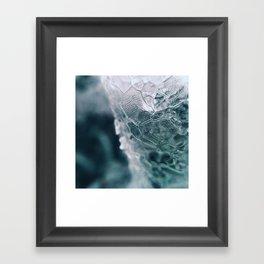 Ice Macro Framed Art Print