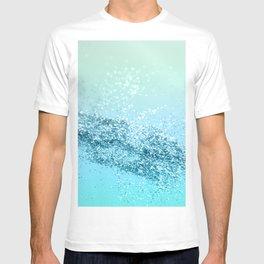 Seafoam Aqua Ocean MERMAID Girls Glitter #3 #shiny #decor #art #society6 T-shirt