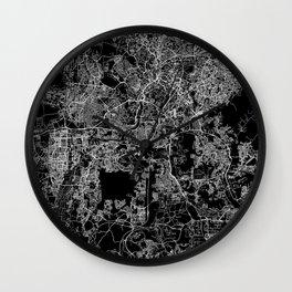 Kuala Lumpur Black Map Wall Clock