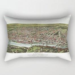 Bird's Eye View of Manayunk Philadelphia, Pennsylvania (1907) Rectangular Pillow