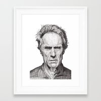 clint barton Framed Art Prints featuring Clint by Rik Reimert