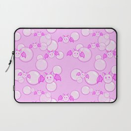 Bubbles and Bats Pink Laptop Sleeve