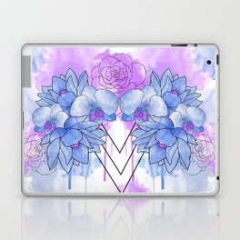 Flower Explosion - Blue/Purple Laptop & iPad Skin