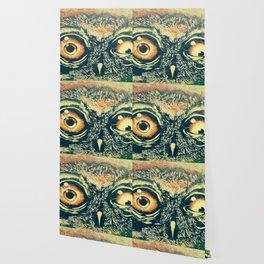 Buho owl animal graffiti drawing Wallpaper