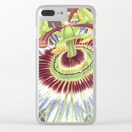 Passion Flower Clear iPhone Case