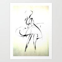 marilyn Art Prints featuring - Marilyn - by Magdalla Del Fresto