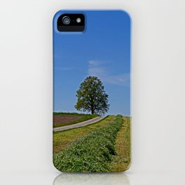 Relaxing in a field iPhone Case