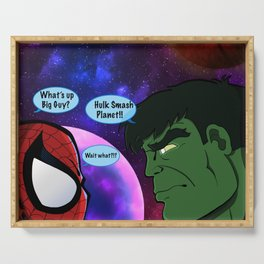 Hulk and Spidey! Serving Tray
