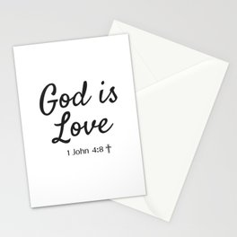 God is Love - Religious Art Stationery Cards
