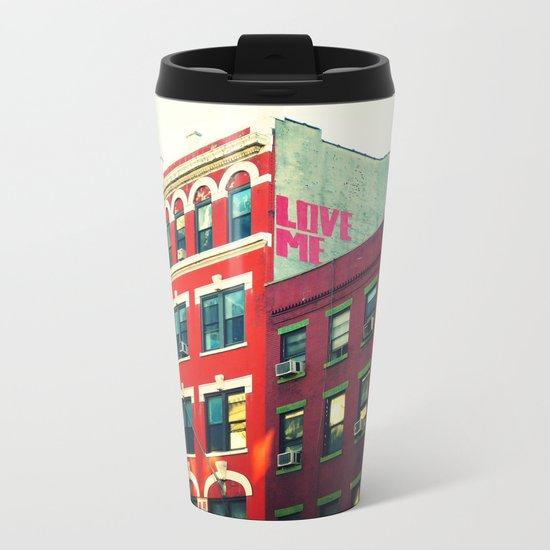 New York City Love Metal Travel Mug