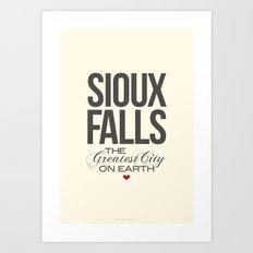 Sioux Falls Poster Art Print