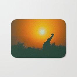 Lonely Sunset Giraffe Bath Mat