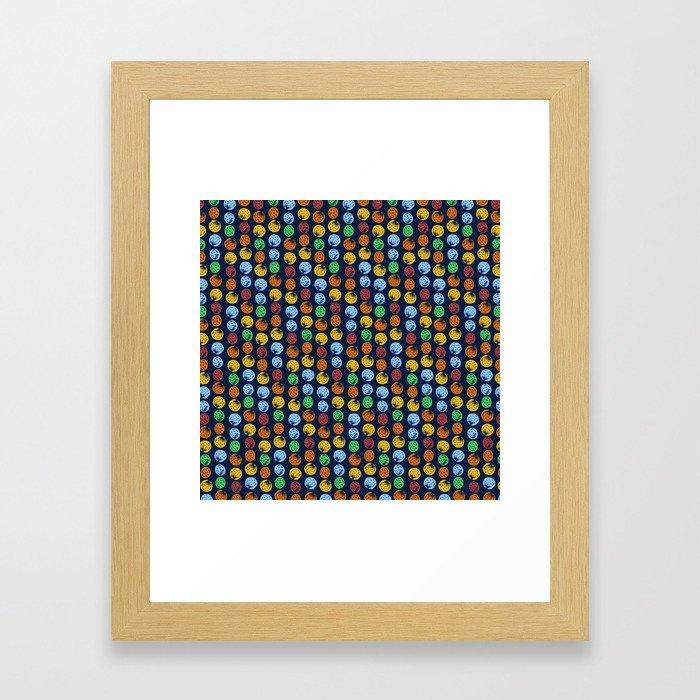 Round Cells Framed Art Print