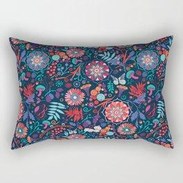Ripe autumn – cyan and red Rectangular Pillow
