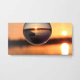 Sunset Through the Crystal Ball Metal Print