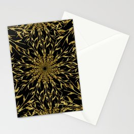 Black Gold Glam Nature Stationery Cards