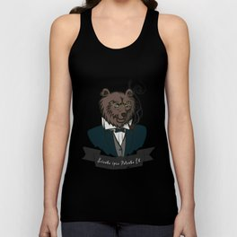 Clever Bear Unisex Tank Top