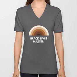 Black Lives Matter Rainbow Unisex V-Neck
