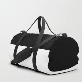 Black and white - Half and Half Split Duffle Bag