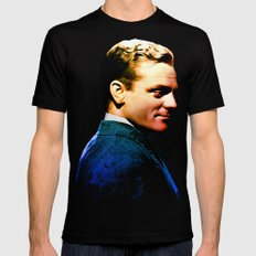 James Cagney, blue screen Black 2X-LARGE Mens Fitted Tee