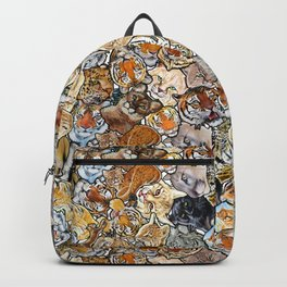 Big Cat Collage Backpack