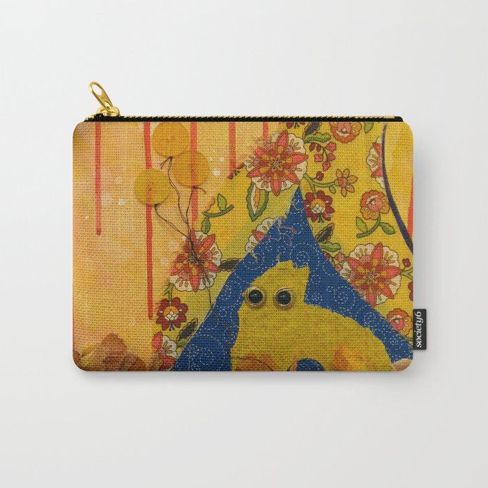 i wonder if the rain loves the trees and fields, that it kisses them so gently? Carry-All Pouch