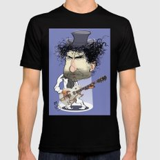 Bob Dylan Mens Fitted Tee X-LARGE Black
