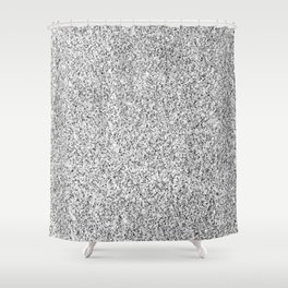 Beautiful Silver glitter sparkles Shower Curtain