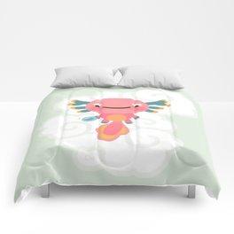 Umpearl - Axolotl with magic pearl Comforters