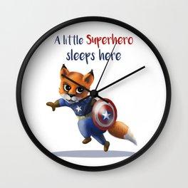 Superhero Fox Wall Clock