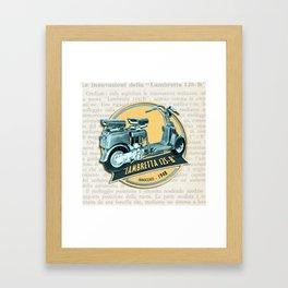 LAMBRETTA 125 B Framed Art Print
