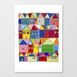 Little Houses Canvas Print