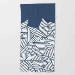 Abstract Mountain Navy Beach Towel