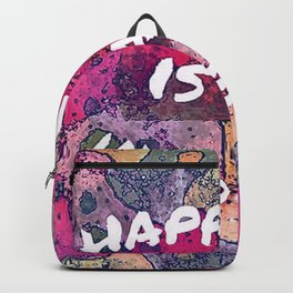 happiness is an inside job Backpack