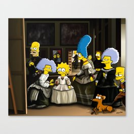 Las Meninas - Simpsonized Canvas Print