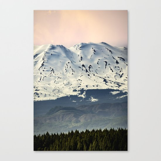 Mount St. Helens at Sunset Canvas Print
