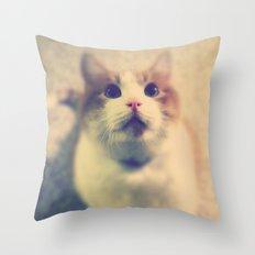 Pink Nose Throw Pillow
