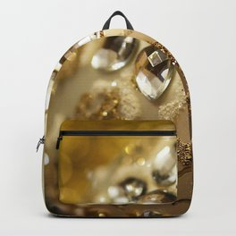 Christmas golden ball decoration gems Christmas New Year Backpack