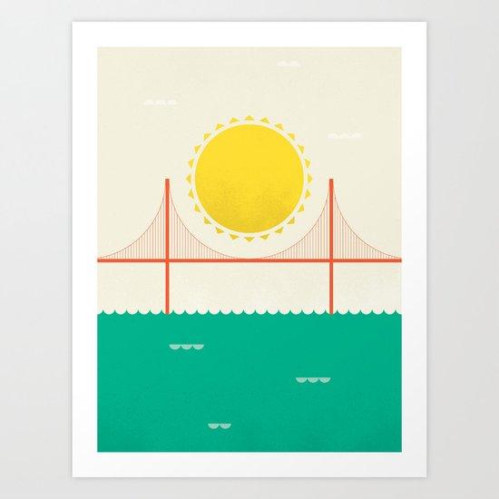Sunny SF Art Print