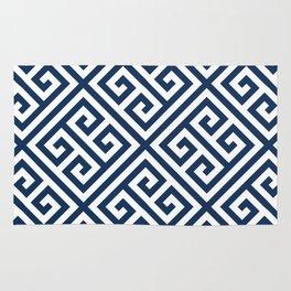 Greek Key Navy Rug