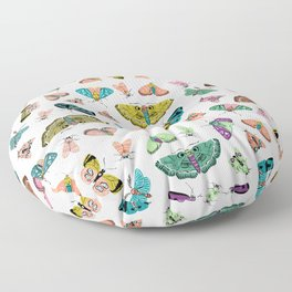 Vintage Moths Collection // Butterfly Art Floor Pillow