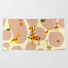 Giraffes Beach Towel