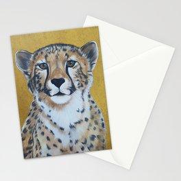 Cheetas, acrylic on canvas Stationery Cards