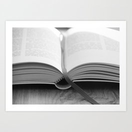 Bible Black and White Art Print
