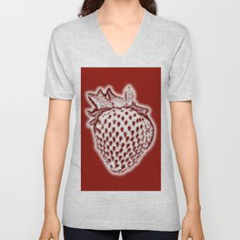 Red Strawberry Unisex V-Neck