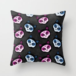 Sugar Kitties Throw Pillow