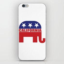 California Republican Elephant iPhone Skin
