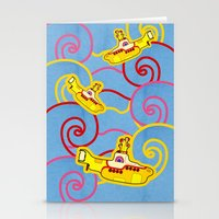 yellow submarine Stationery Cards featuring Yellow Submarine  by Merch Pug